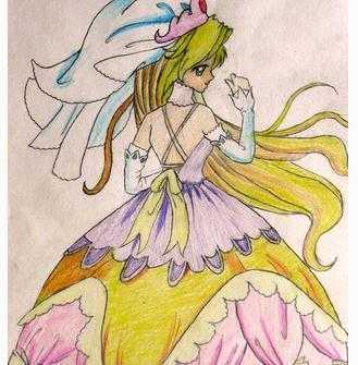 9岁儿童画画大全简单漂亮公主图片3